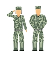 Military people soldier in uniform avatar vector image vector image