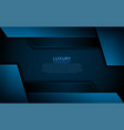 modern navy blue background with abstract shape vector image vector image