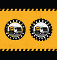 modern professional logo emblem concrete delivery vector image vector image