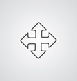 move outline symbol dark on white background logo vector image