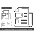 Newspaper line icon vector image vector image