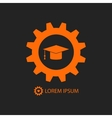Orange engineering education logo vector image vector image