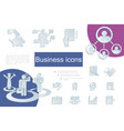 paper business icons composition vector image vector image