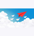 paper plane background creative concept idea vector image vector image