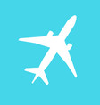 plane icon flat pictogram vector image vector image
