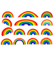 rainbow - set vector image