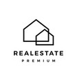 real estate house mortgage outline logo icon vector image