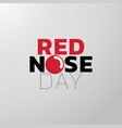 red nose day icon design medical logo vector image vector image
