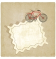 retro background with bicycle vector image vector image