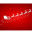 santa claus in sled rides in reindeer vector image vector image