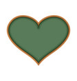 school board in form of heart i love learn i like vector image vector image