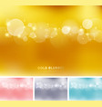 set of abstract gold pink gray blue color vector image