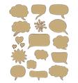 set of cartoon speech bubbles vector image