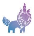 silhouette unicorn with hairstyle design and horn vector image vector image