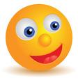 smiley icon vector image