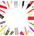 stationery realistic frame vector image vector image