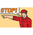 Stop comic book style vector image vector image