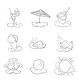 summer icon pack vector image