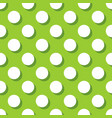 tile pattern with white polka dots on green vector image vector image