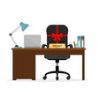 vacant chair hr icon vector image vector image