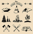 Vintage style design elements and icons vector image vector image