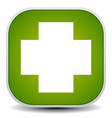 white cross over green - for first aid health vector image