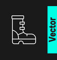 white line waterprorubber boot icon isolated on vector image vector image
