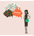 woman shopping vector image vector image