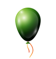 Realistic green balloon with ribbon isolated on vector image