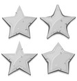 stone stars icons for ui game vector image