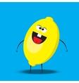 cartoon lemon character vector image