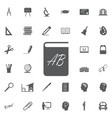 dictionary icon filled flat sign solid vector image