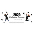 2020 graduation ceremony banner young graduate vector image vector image