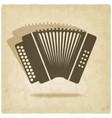 accordion old background vector image vector image