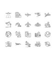 aerial services line icons signs set vector image vector image