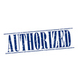 authorized blue grunge vintage stamp isolated on vector image vector image