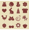 baby objects set vector image vector image