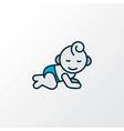 baby room icon colored line symbol premium vector image