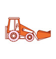 backhoe icon image vector image