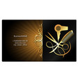 beauty salon and hairdresser gold ornament tool vector image vector image