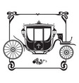 brougham victorian era carriage image vector image vector image