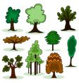 cartoon style tree vector image vector image