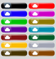 cloud icon sign Set from fourteen multi-colored vector image vector image