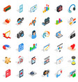 computer design icons set isometric style vector image vector image