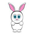 cute sad easter bunny vector image