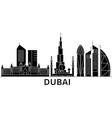 dubai architecture city skyline travel vector image