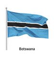 flag republic botswana vector image
