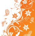 flower design background vector image vector image