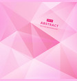 geometric pink low polygon abstract background vector image vector image