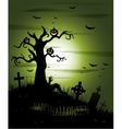 green halloween background vector image vector image